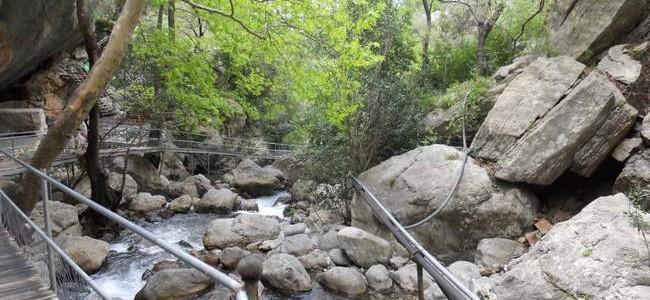 Sapadere kanjonas netoli Alanijos – diena gamtos ir kalnų apsuptyje