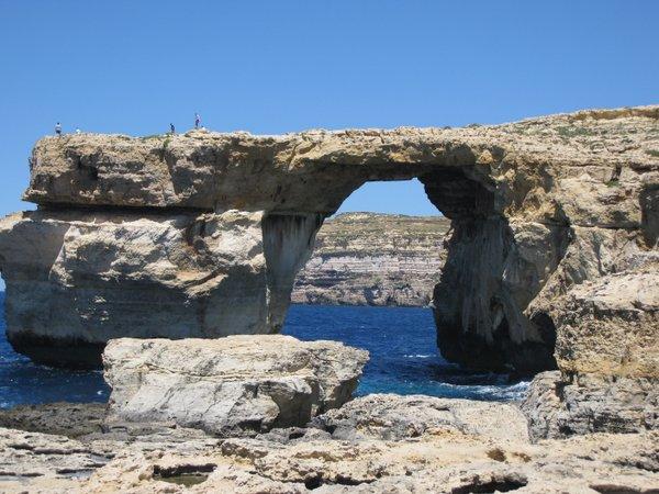 Žydrasis langas Gozo saloje Malta