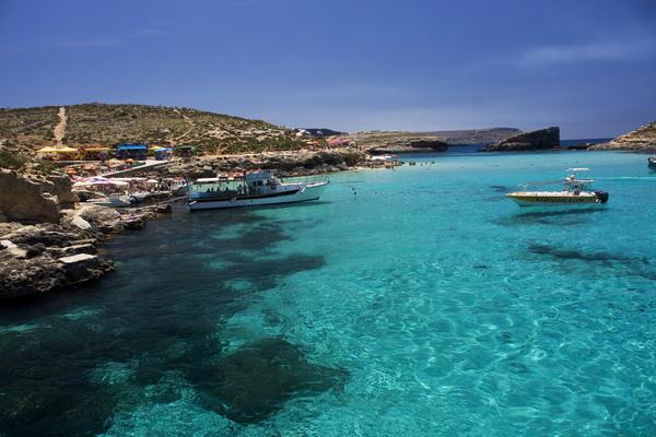 Mėlynoji lagūna Komino saloje Malta