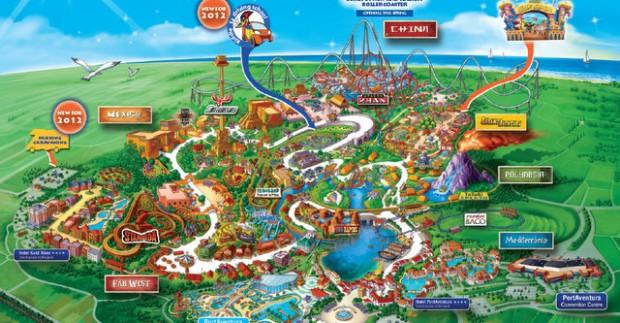 Nuotykių pasaulis šalia Barselonos - Port Aventura atrakcionų parkas