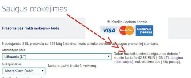 Ryanair valiutos konvertavimas