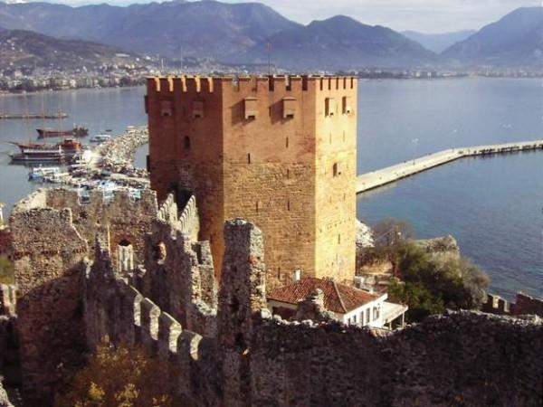 Alanija Alanijos pilis Turkija