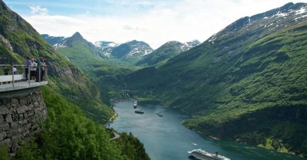 Lankytinos vietos Norvegijoje: kur nuvykti su vaikais? Geiranger fiord