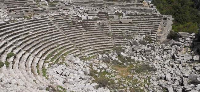 Termesos miestas šalia Antalijos – vienas geriausiai išsilaikiusių antikinių miestų Turkijoje