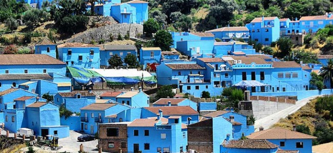 Juskaras – tikras Smurfų kaimelis Andalūzijoje