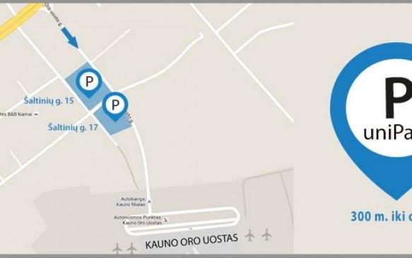 Parkavimas Kauno oro uoste 35% PIGIAU: savaitei tik 21 €!
